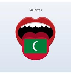 Maldives language Abstract human tongue vector