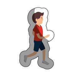 Man athlete running avatar character vector