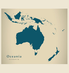 Modern map - oceania map complete vector