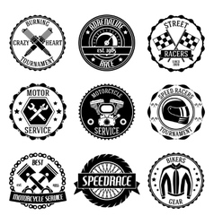 Motorcycle racings emblems vector image