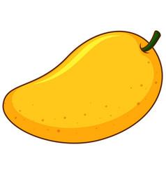 One yellow mango on white background vector