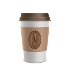 Plastic disposable cups of coffee design vector