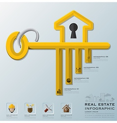 Real Estate And Business Infographic vector image
