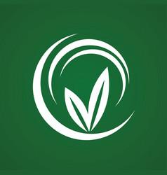 Round green logo vector