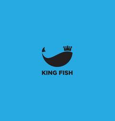 Royal fish logo design template vector