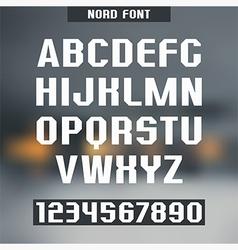 Sans serif font Nord vector image
