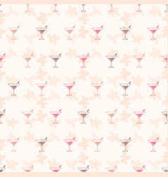 Seamless pattern background alcoholic beverages vector