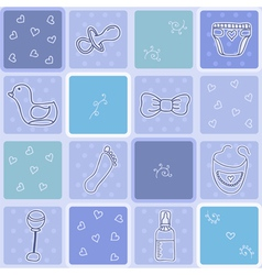 Seamless pattern its a boy Background baby boy vector image