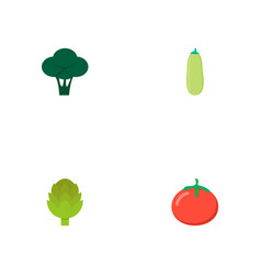 set of berry icons flat style symbols with vector image