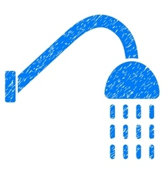 Shower Grainy Texture Icon vector
