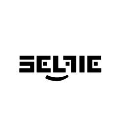 stylized black logo selfi on a white vector image