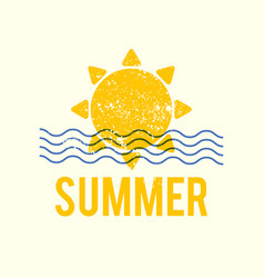 summer is coming sea vacation poster design vector image
