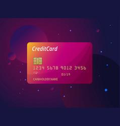 templates credit cards design plastic vector image