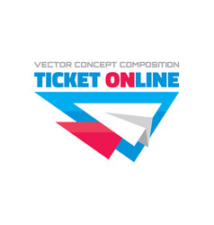 ticket online - concept composition vector image