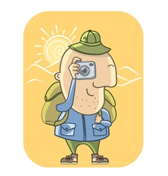 Tourist with camera vector
