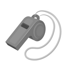 Whistle football fanfans single icon in vector