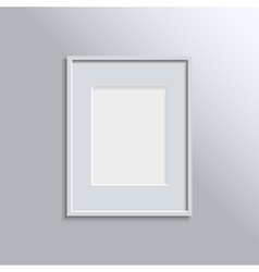 White frame on a wall background design for your vector