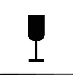 wine cup icon design vector image