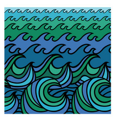 abstract sea waves background vector image