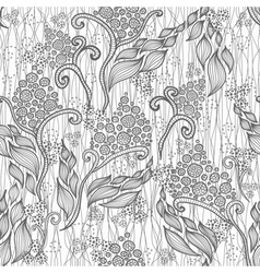 Abstract semaless floral pattern vector image vector image