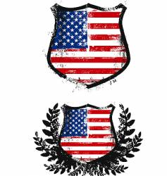 American grunge shield vector image vector image