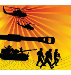 army offensive vector image vector image