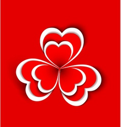 concept flower from paper hearts shape vector image vector image