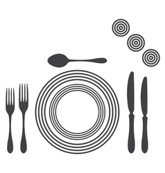 Etiquette Proper Table Setting vector image vector image