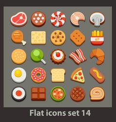 flat icon-set 14 vector image