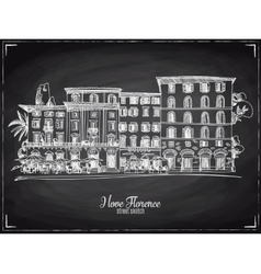 Hand drawn Florence Italian vector image