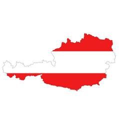 map of austria vector image