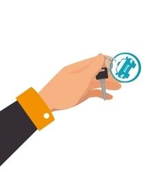 Hand car key vector
