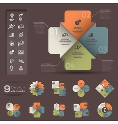 Infographic element template vector