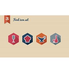 Menu food flat icon set vector image