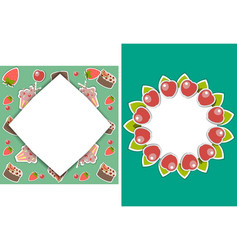 set of two templates for birthday party wedding vector image