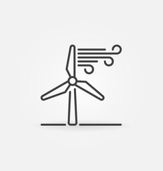 wind energy linear icon vector image vector image