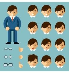 Businessman cartoon emotions vector image vector image