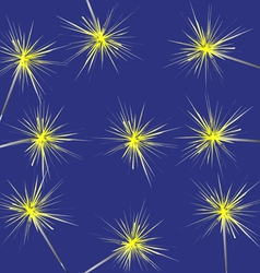 Christmas background with sparklers vector image