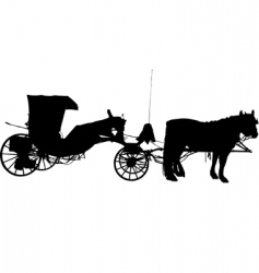 horse and coach vector image