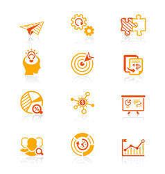 startup business icons - juicy series vector image vector image