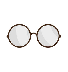 glasses pair object vector image vector image
