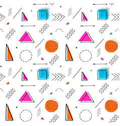 memphis design 80s geometric style seamless vector image vector image