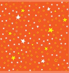 orange seamless pattern with stars vector image