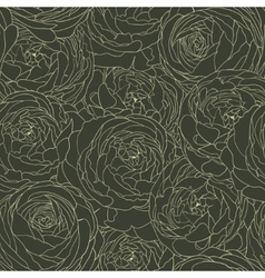 Seamless floral background with flowers rose vector image vector image