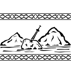 sword in the stone vector image