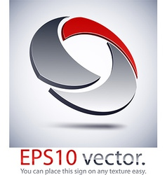 3D modern technology logo icon vector