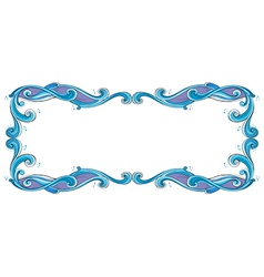 A blue and violet border vector