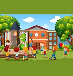 a children play scene vector image