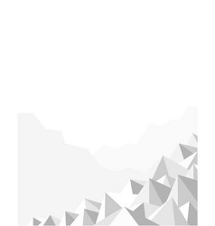 abstract geometric polygonal mountain background vector image