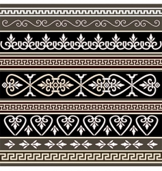 antique borders for your design vector image